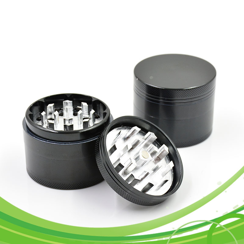 Smoking Metal Herb Grinders Weed Grinder for Tobacco 56mm 4 Parts Aluminum Alloy