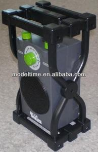AM/FM waterproof jobsite radio with wet proof and shock proof