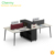 Modern newest style 4 person office wood mobile workstation /desk with aluminum foots