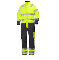 100% polyester band collar antistatic safety coverall