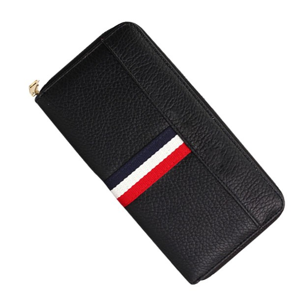 europe style pure color faux leather woman men's card holder zip arpund wallet with studded rivets