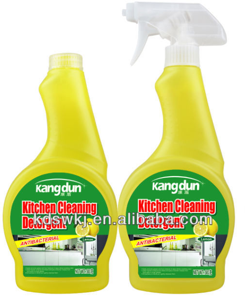 High efficient kitchen oil cleaning agent with trigger spray Lemon