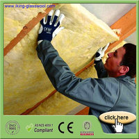 Safe Wall Fireproof Insulation Materials For Glasswool Blanket