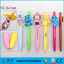 Art customized clip pen, XH14008, advertising carton pen, plastic pen for gift