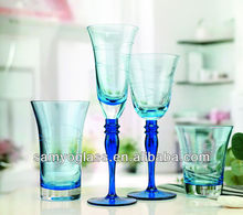 High quality wholesale italian glassware christmas drinking glass