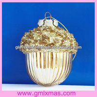 2016 New Design Christmas Glass chestnut decoration,Trade Assurance supplier