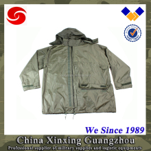 Rain coat for men military army poncho Polyester with PE PVC coating