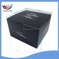 free samples Matt black paper cap packaging box