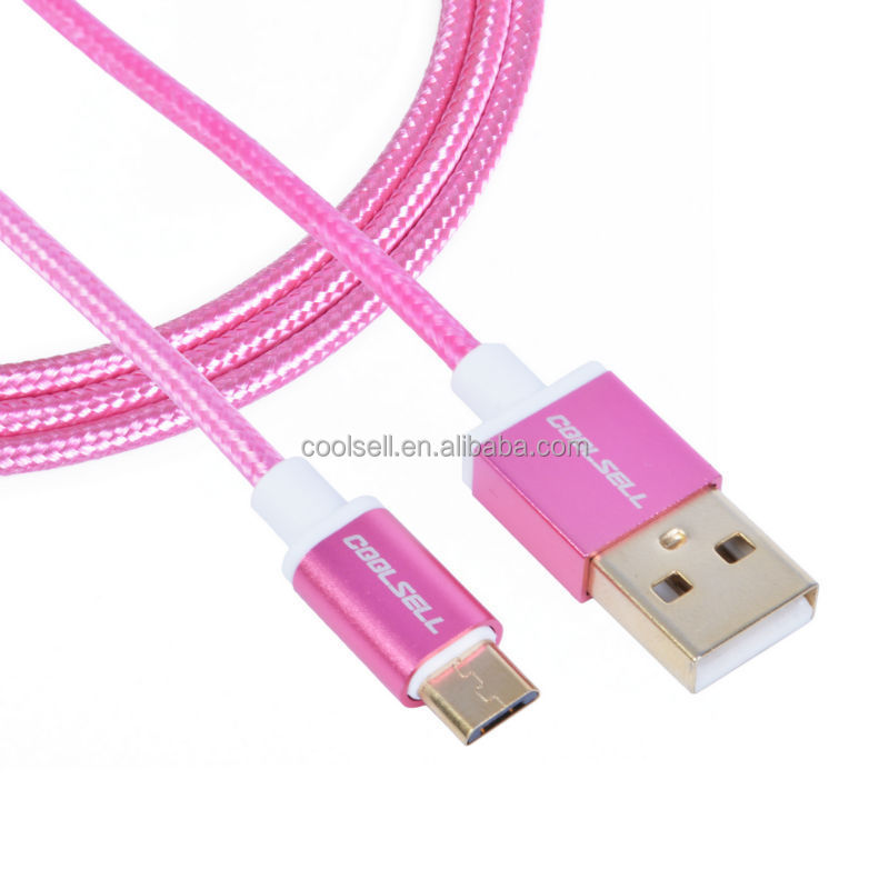 factory good quality data cable micro usb charger cable