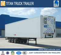 70 CBM used reefer trailers,used refrigerated trailer cargo box semi trailer for sale