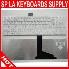 FOR Toshiba LAPTOP KEYBOARD S50 white color with white frame Latin Spanish keyboard Teclado 9Z.N7USV.N1E 6037B0083234