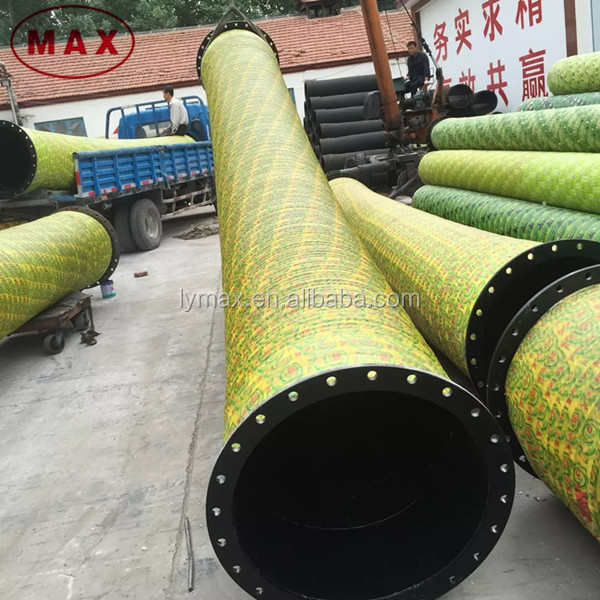 Flanged joint 8 inch flexible hose for sand dredging pump