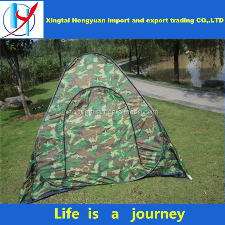 high quality outdoor tent sunshade camping tent army green 3-4 person single-deck used tents