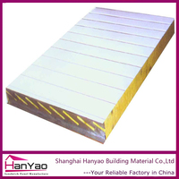 Customized Insulated Fireproof Cladding Steel Rock Wool Exterior Wall Panels Sandwich