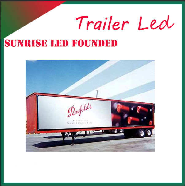 Oversized panel truck display led huge screen display live news broadcast video music picture movie