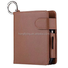 Electronic cigarette carrying leather cover card holder frosted wallet case
