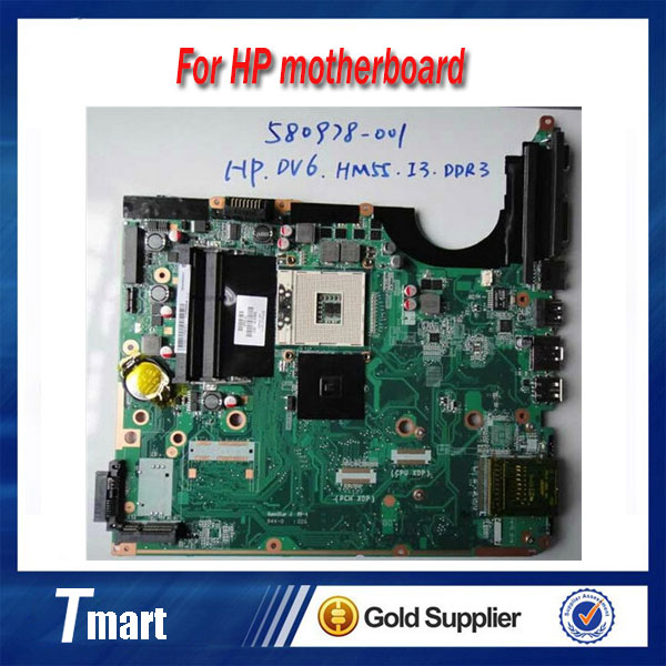 for hp DV6 580978-001 laptop motherboard intel Integrated HM55 100% tested