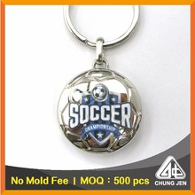 Premium Keychain Manufacturer Coin Key Ring Trolley Token Metal Holder for Soccer Giveaways