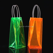 strong plastic pvc wine cooler bag with handle