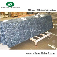 Prefab Polished Blue Pearl Granite Laminate Kitchen Countertops