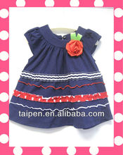100% Cotton Baby Girl Dress Summer Cute Style Latest Dresses Kids Clothes Hot Sale
