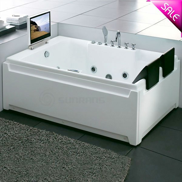 Hot sale bathtub double person large sizes massage double for Large bathtub dimensions