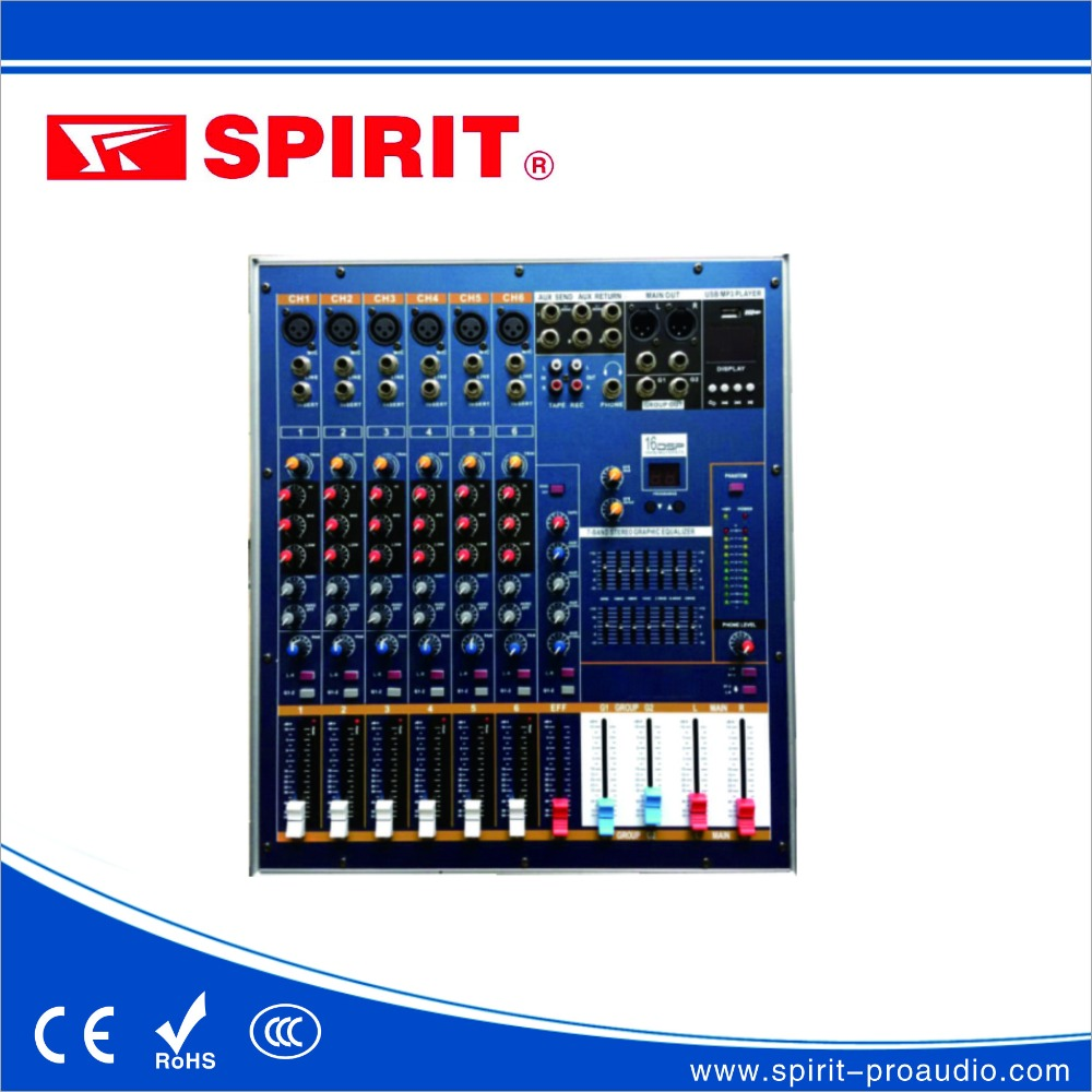 high quality dj mixer PMX6 music mixer with power amplifier DSP 48 V phamtom supply audio mixer mixing console OEM China