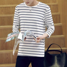 Peijiaxin Fashion Design Long Sleeve Men's Wholesale Full Hand Blank Striped T-shirts