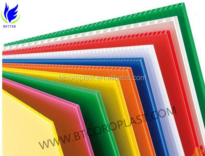 Best price for Construction Protection Plastic Correx Board/correx panel