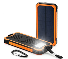 10000mah battery Solar Power Bank Dual USB Portable External Battery Charger For Mobile Phone