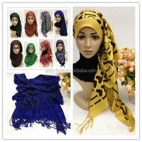 new designs full rhinestones I love you print muslim long scarf islamic hijab SYF087