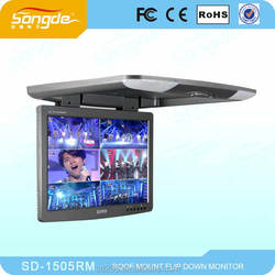direct factory 15 inch flip down car monitor