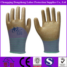 13G Polyester Shell Anti-Acid work glove nitrile hilti work glove