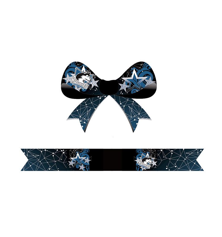 Cheap New Design Customize Colored All Star Sublimation Hair Cheer Bows