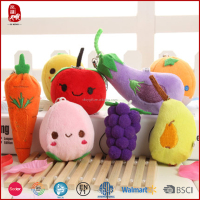 Chinese manufacture wholesale customize 2016 new products plush keychains vegetables and fruits toys