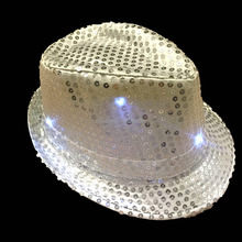 new led jazz hat,LED light up top hat ,flashing dancing hat
