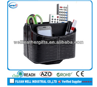 Rotating PU leather office container wholesale
