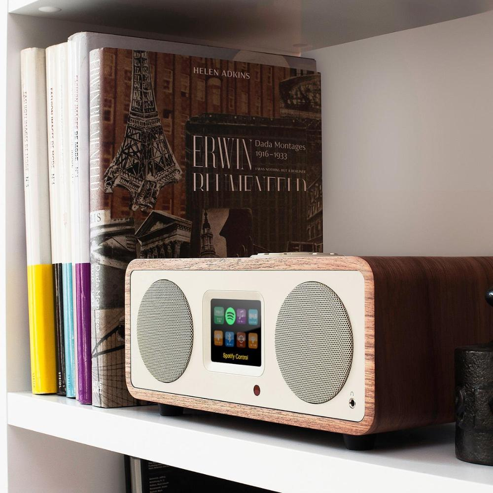 latest OHM - 2.1 Design Internet Radio 40W BT wireless Spotify Connect DAB + Walnut