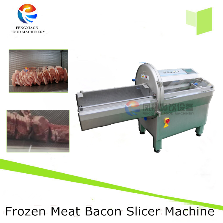 Industrial Meat Slicer Type Frozen Beef , Bacon , Sausage Cheese Fish Row Cutting Machine