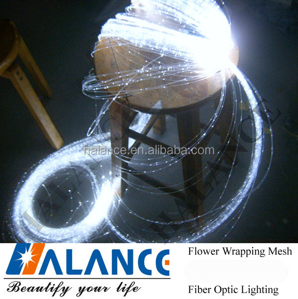 Wedding Decoration Fiber optic lightig for wedding table Plan decorations