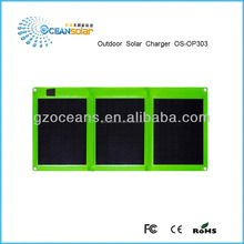 Foldable solar charger folding solar rechargable solar charging for mobile power bank OS-OP303