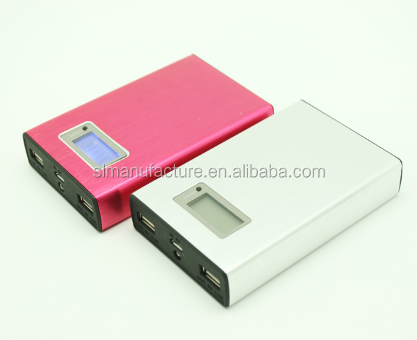 Portable Metal Power Bank 11200mAh External Battery Backup Pack Universal Dock Dual USB For iPhone 4 4S 5 HTC iPad Laptop