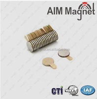 D10x1mm adhensive ndfeb magnetic disc