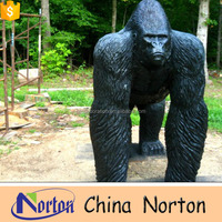 fiberglass sitting life size gorilla statues for sale NTRS227S