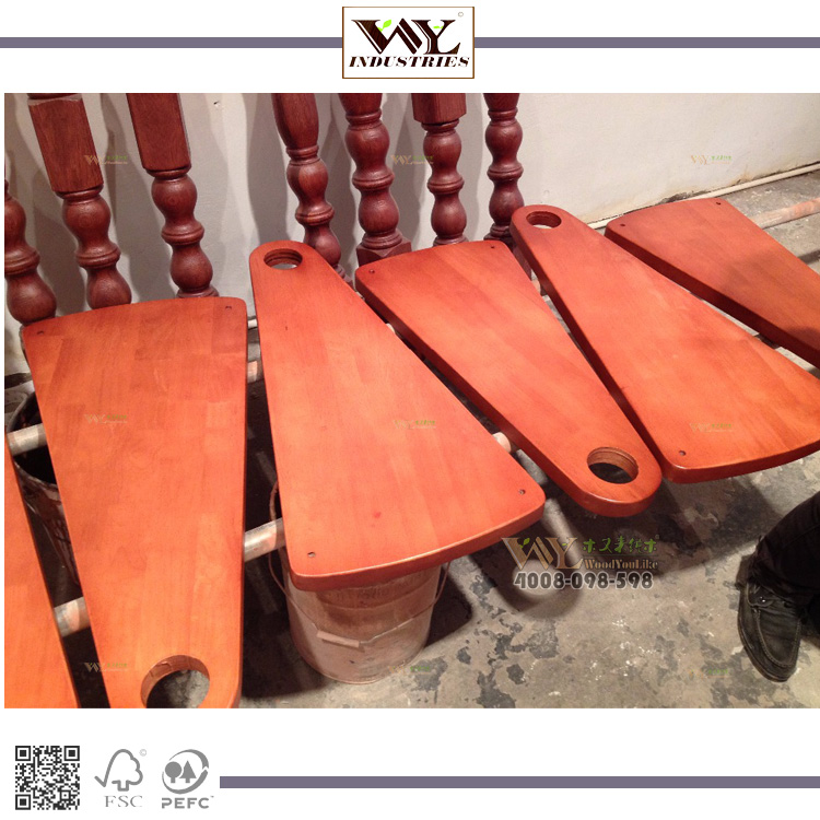 Solid Wood Treads Staircase Stainless Rubber wood from China Manufaturing