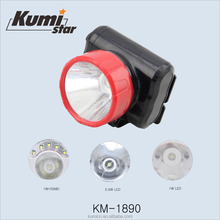 KM-4603 zoom rechargeable 1000 lumen led headlamp 1W rechargeable headlamp headlamp rechargeable led flashlight
