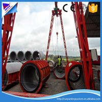 rcc concrete pipes making machines precast concrete pipe mould water delivery concrete drain pipe machine