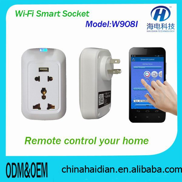 2018 Promotion Christamas Gifts wifi wireless smart home remote controller socket for Home automation