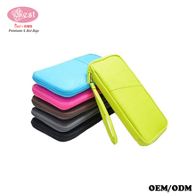 travel document organizer money pouch multifunction carrying case document holder with pen holders for tour