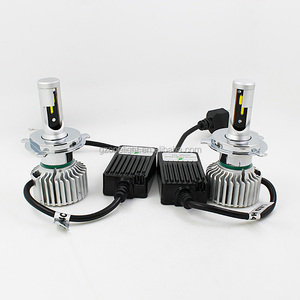 Dual Color 6000k 3000k 4300k canbus Aluminum Body H4 H7 Auto car led headlight with Seoul CSP